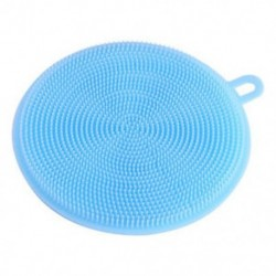 Kék Többfunkciós antibakteriális szilikon ételmosó szivacs kefe mosogatógép