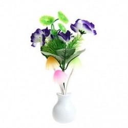 Lila virág US Plug romantikus virág gomba LED éjszakai fényérzékelő baba ágy szoba lámpa dekoráció