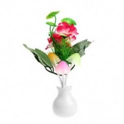 Szilvavirág virág US Plug romantikus virág gomba LED éjszakai fényérzékelő baba ágy szoba lámpa dekoráció