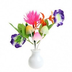 Lótusz virág US Plug divat virág gomba LED éjszakai fényérzékelő baba ágy szoba lámpa dekoráció