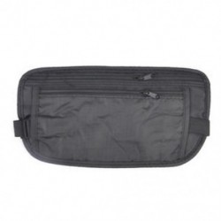 Fekete Forró karcsú utazótáska Rejtett kompakt biztonsági pénz útlevél azonosító deréktartó táska