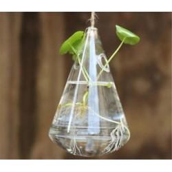 Ovális alakú 1 x átlátszó függő üvegbab labdák gyertya Tealight tartó fél esküvői dekoráció