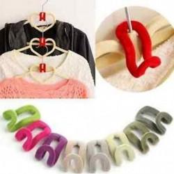 Nagykereskedelem 10db Otthoni kreatív Mini pelyhesítő ruhás fogas horog szekrény Szervező