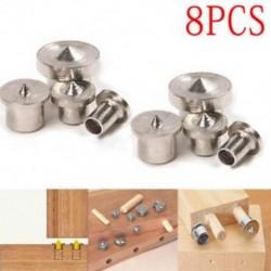 8Pcs Dowel Pins Center Point 6/8/10 / 12mm Állítsa be a famegmunkáló kézibeszélőt