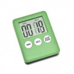 Zöld Nagy LCD digitális konyha főzési időzítő Count-Down Up óra riasztás mágneses 1PCS