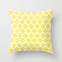 * 2 45X45cm sárga lakberendezés dobja PILLOW COVER kanapé kanapé derék ágypárna tok