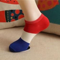 FR Új férfiak divatos boka zokni alacsony vágású személyzet alkalmi sport szín pamut zokni 1 pár