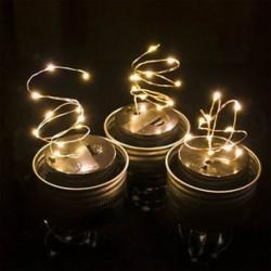 Meleg fehér 1 csomag LED tündér fény napelem mason Jar fedél fények színváltó kert dekoráció