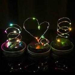 Színes 1 csomag színváltó LED tündér fény napelem mason Jar fedéllel világít kerti dekoráció