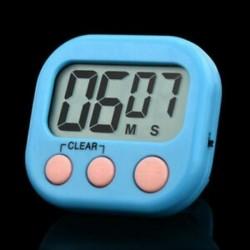 Kék Nagy LCD digitális konyha főzési időzítő Count-Down Up óra hangos riasztás mágneses