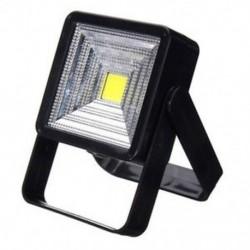 Fekete Hordozható 15W napelemes LED újratölthető izzó fény szabadtéri kemping udvari lámpa