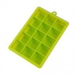 Zöld Népszerű 15 rács kreatív jégkocka formájú szögletes szilikon jégtálca készítő