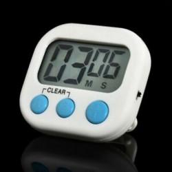 fehér Nagy digitális LCD konyhai főzés időzítő mágneses visszaszámlálás óra hangos riasztás