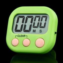 Zöld Nagy LCD digitális konyha főzési időzítő Count-Down Up óra hangos riasztó eszköz Új