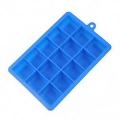 Kék Szilikon 15 rács jégkocka öntőformájú, biztonságos jégtálca-készítő eszköz tartozékok