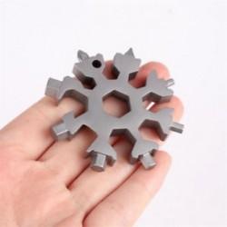 Ezüst Snowflake Multi Tool 19-1 hópehely acél alakzat lapos kereszt háztartási kéziszerszám