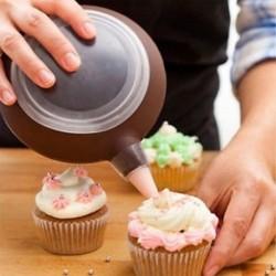 Habzsák 3db cserélhető fejjel - Sütemény formázó - Sütemény töltő szett