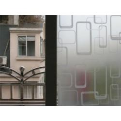 Négyzet 45CMx2M PVC vízálló adatvédelmi hálószoba Fürdőszoba Fagyott ablakfilm matrica