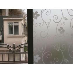 Fehér kovácsoltvas virág 45CMx2M PVC vízálló adatvédelmi hálószoba Fürdőszoba Fagyott ablakfilm matrica