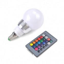 E27 16 Színváltó mágikus fény E27 7W RGB LED lámpa izzó   vezeték nélküli távirányító