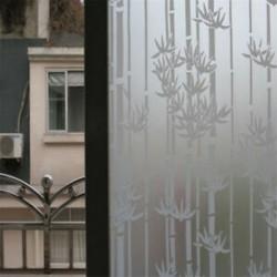 Bambusz 45 * 200CM vízálló matt védettségű hálószoba fürdőszoba üvegablak fólia matrica