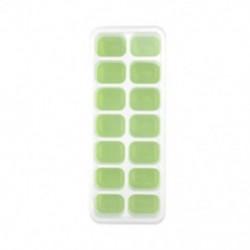 Zöld Szilikon jégkocka tálcák Jelly Maker penész tálcák fedelét koktél, whisky