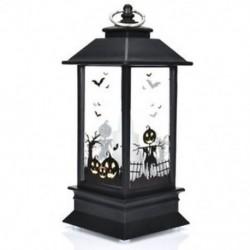 * 3 2018 Halloween Vintage sütőtök kastély lámpa lámpa fél függő dekoráció LED fény