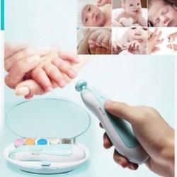 Elektromos baba körömreszelő eszközök Biztonságos trimmer újszülött kisgyermek lábujjak körömkészletek