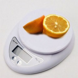 5 kg 1g digitális konyhai élelmiszer-étrend postai mérleg elektronikus súlyegyensúly fehér
