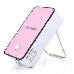 Rózsaszín Mini asztali ventilátor hordozható irodai otthoni asztali téli meleg hely elektromos fűtés