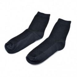 Sötétkék (hosszú) Férfi Bambuszrost harisnya Zokni Alkalmi toe Boot pamut üzleti munka zokni