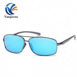 Gun fekete keret   kék lencse Új napszemüveg polarizált szemüveg férfi szabadtéri sport vezetési halászati szemüveg