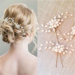 ÚJ Divat Menyasszonyi Haj Kiegészítők Gyöngy Virág Haj Stick Pin Esküvői Ékszerek