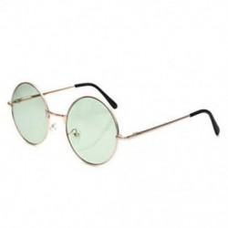 Zöld Női divat retro kerek szemüveg lencse napszemüveg szemüvegek műanyag keret szemüveg