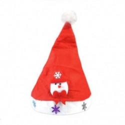 Hóember gyerekeknek LED karácsonyi kalap Mikulás hóember rénszarvas sapka karácsonyi dekoráció gyerekek ajándék