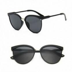 D-Black Vintage Retro női férfiak szemüveg túlméretezett geometriai lapos tükör lencse napszemüveg