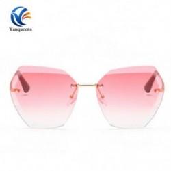 S-Gold   Pink Vintage Retro női férfiak szemüveg túlméretezett geometriai lapos tükör lencse napszemüveg