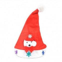 Medve a felnőtteknek 1 x Felnőtt gyermekek LED karácsonyi kalap Mikulás rénszarvas hóember fél sapka ajándék