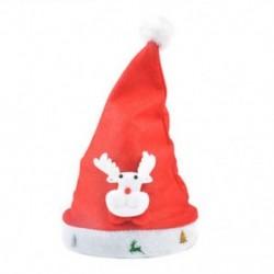 Rénszarvas felnőtteknek 1 x Felnőtt gyermekek LED karácsonyi kalap Mikulás rénszarvas hóember fél sapka ajándék