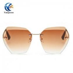 S-Gold   kávé Női lapos lencse tükrözött fém keret szemüveg túlméretezett macska szem UV400 napszemüveg