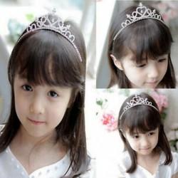 Strasszos kristály tiara haj zenekar gyerek lány menyasszonyi hercegnő prom korona fejpánt