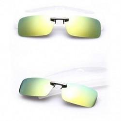 Sárga zöld Polarizált napszemüveg Flip-up klip vezetési szemüvegek napja éjszakai látás lencse UV400
