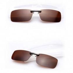 Homokszínű Polarizált napszemüveg Flip-up klip vezetési szemüvegek napja éjszakai látás lencse UV400