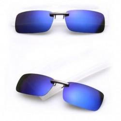 Mélykék Polarizált napszemüveg Flip-up klip vezetési szemüvegek napja éjszakai látás lencse UV400