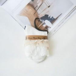 fehér Vintage Retro női csipke fodros frilly boka zokni pamut zokni hölgy aranyos zokni