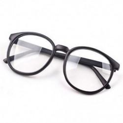 Matt fekete Divat Unisex férfi Retro kerek keret Vintage női szemüveg Nerd szemüveg ajándék