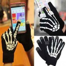 Férfi női intelligens telefon tabletta érintőképernyő kesztyű csontváz meleg téli ujjatlan