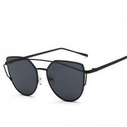 Fekete Női fémkeret Retro tükrözött napszemüveg tervező kültéri szemüvegek