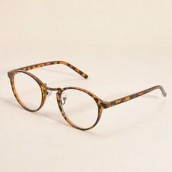 Leopárd Vintage Unisex világos kerek lencse keret szemüvegek férfiak nők retro majom szemüveg