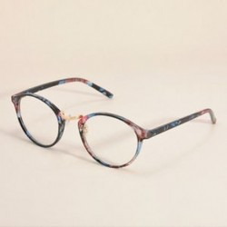 Virág Vintage Unisex világos kerek lencse keret szemüvegek férfiak nők retro majom szemüveg